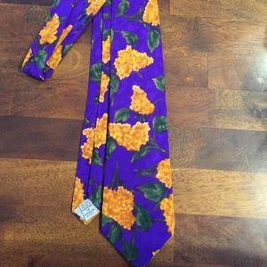 Alfani 100% Silk Tie Woven In Switzerland